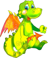 Picture of a cute, smiling dragon